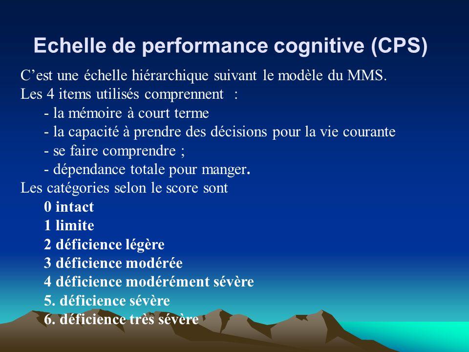 Echelle de performance cognitive (CPS)