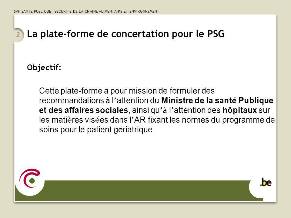 La plate-forme de concertation pour le PSG