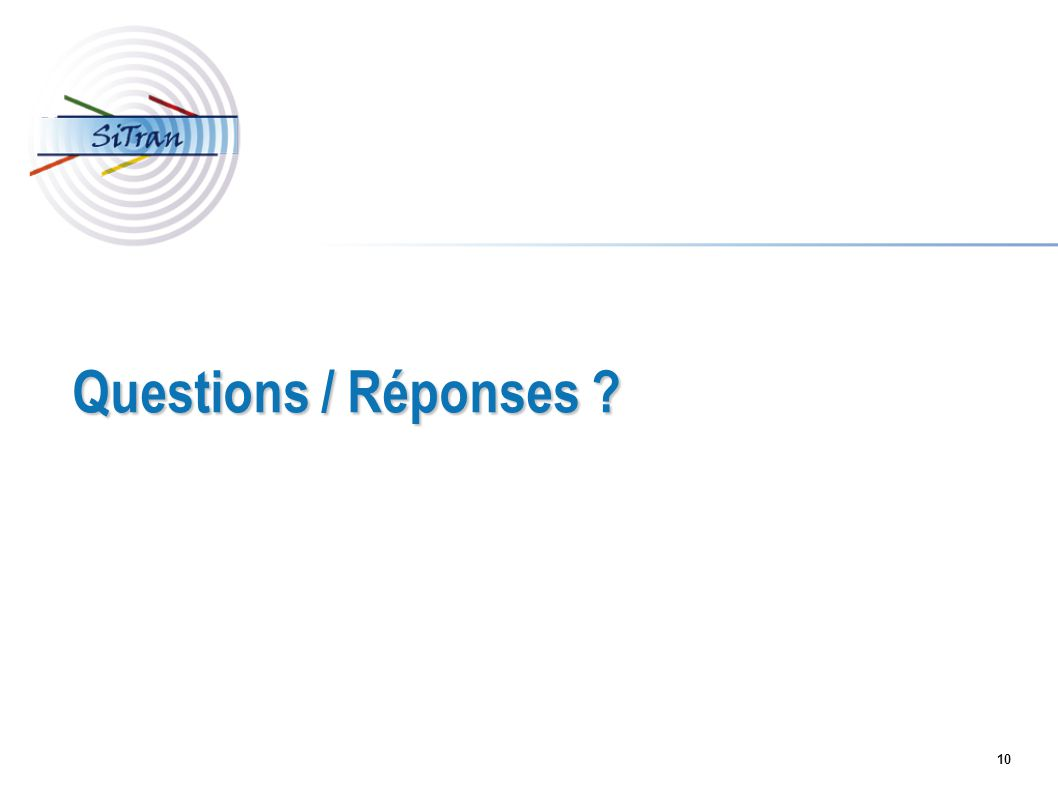Questions / Réponses