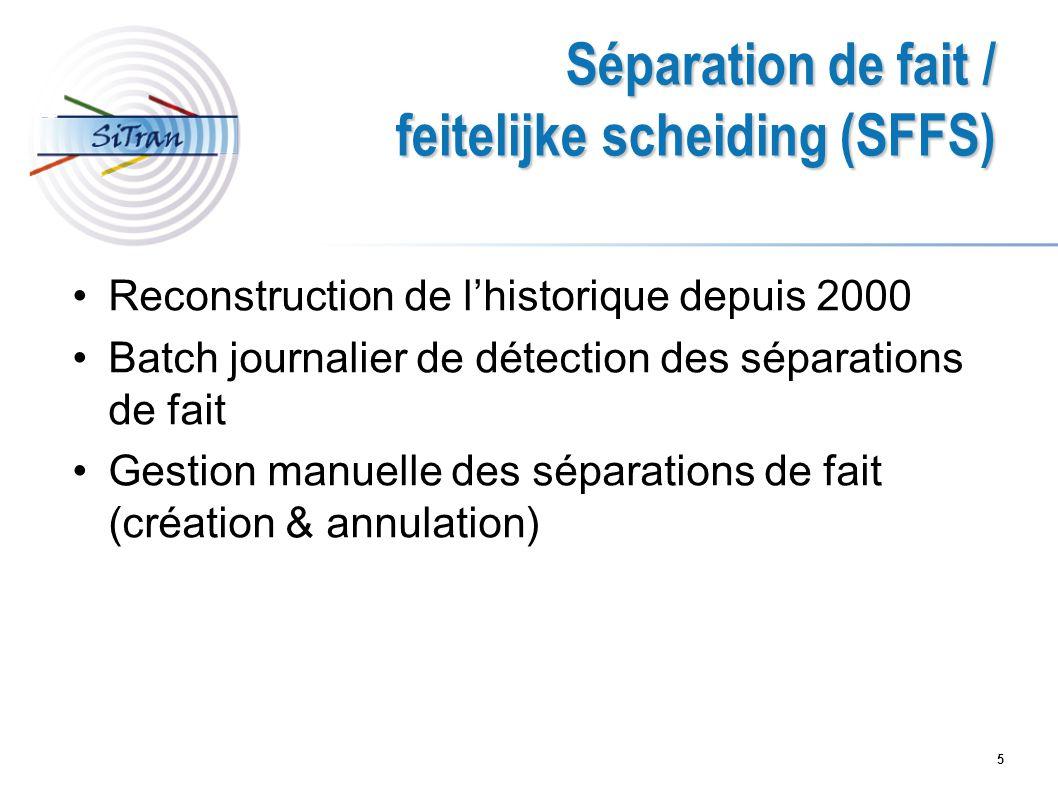 feitelijke scheiding (SFFS)