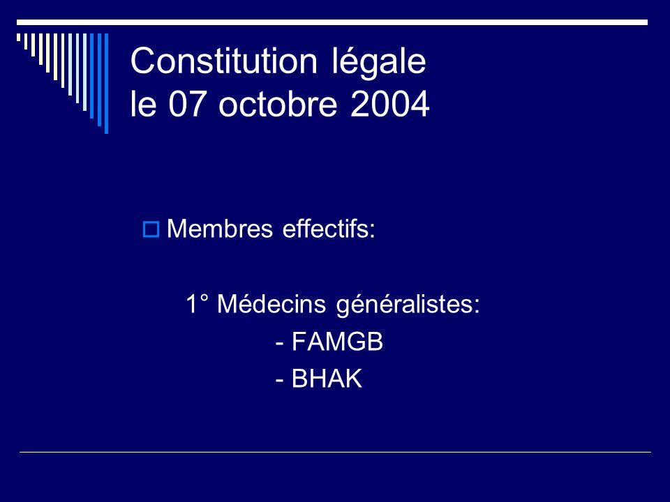 Constitution légale le 07 octobre 2004