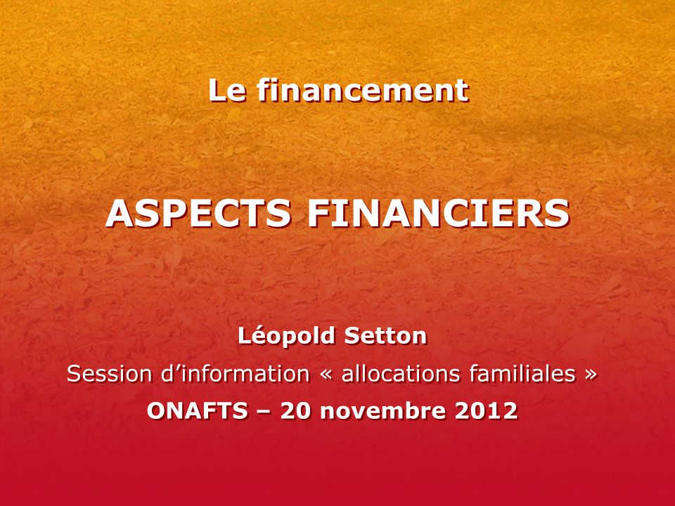 Session d'information « allocations familiales »