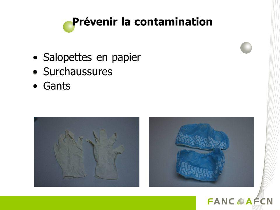 Prévenir la contamination