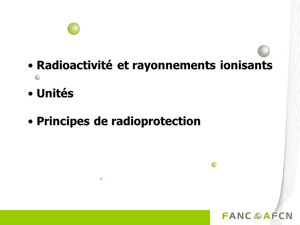 Radioactivité et rayonnements ionisants