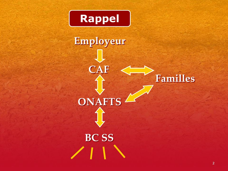 Rappel Employeur CAF Familles ONAFTS BC SS