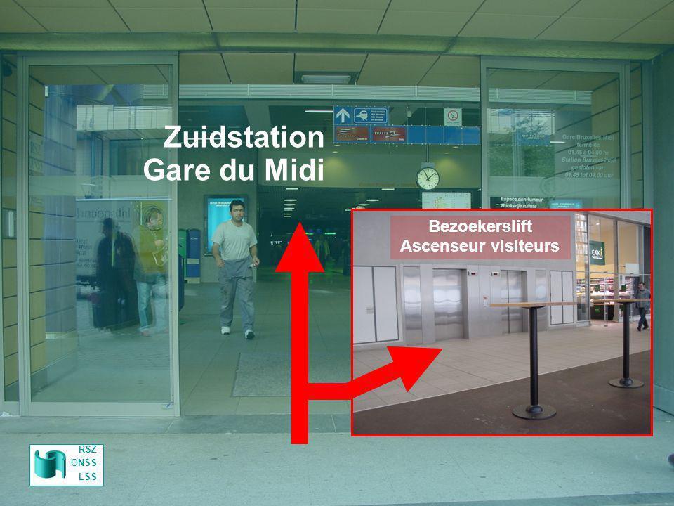 Zuidstation Gare du Midi Parking RSZ Parking ONSS Bezoekerslift