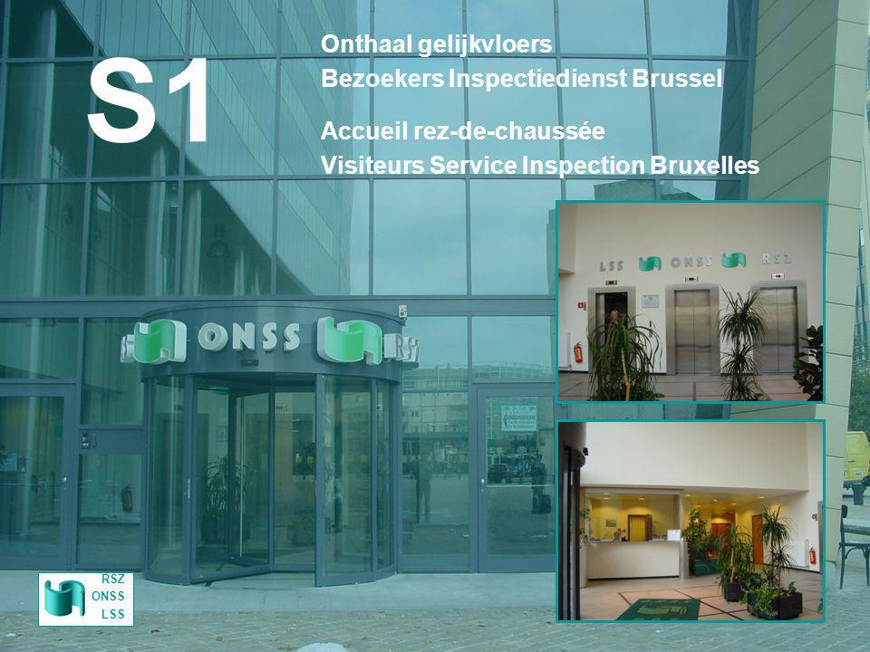 S1 Onthaal gelijkvloers Bezoekers Inspectiedienst Brussel
