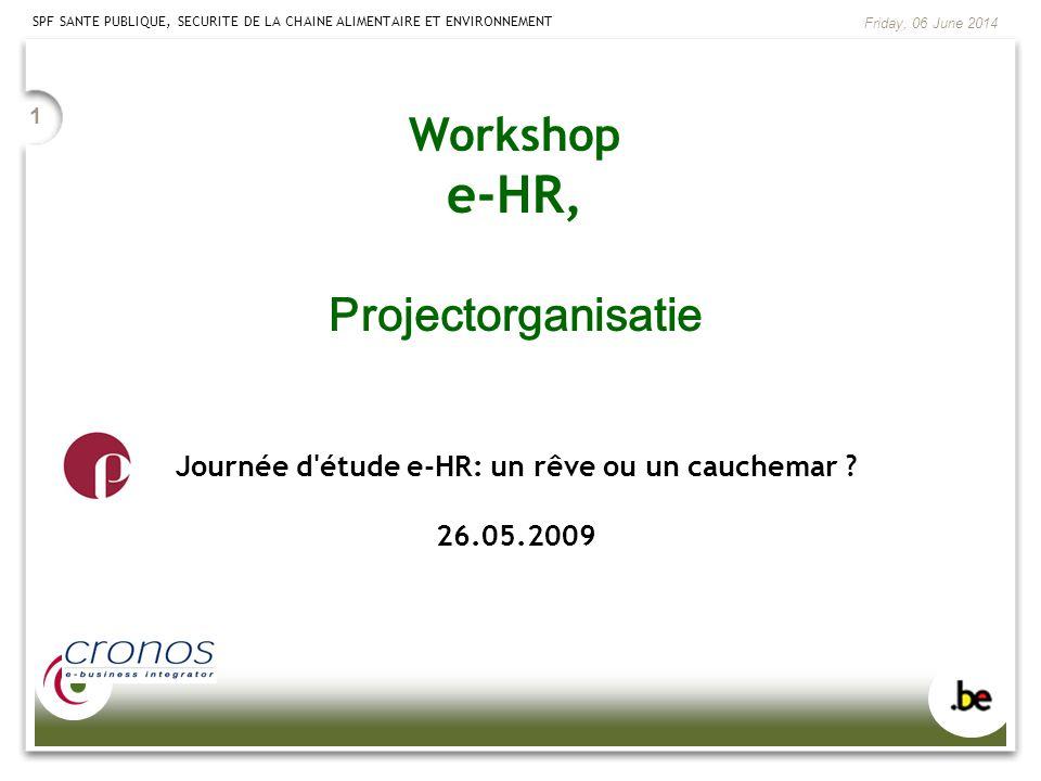 Journée d étude e-HR: un rêve ou un cauchemar 26.05.2009