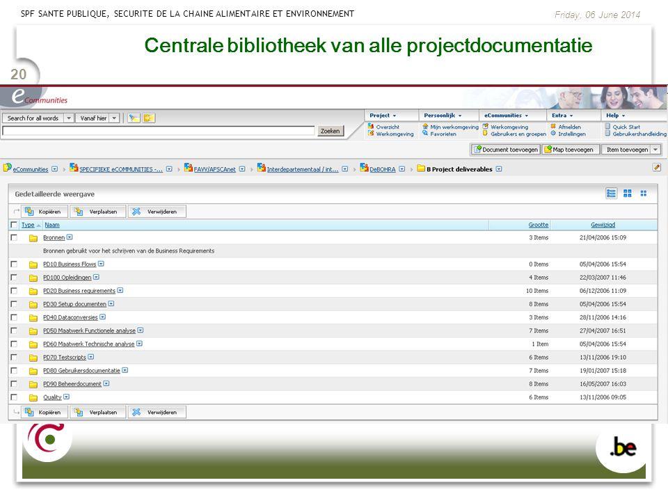 Centrale bibliotheek van alle projectdocumentatie