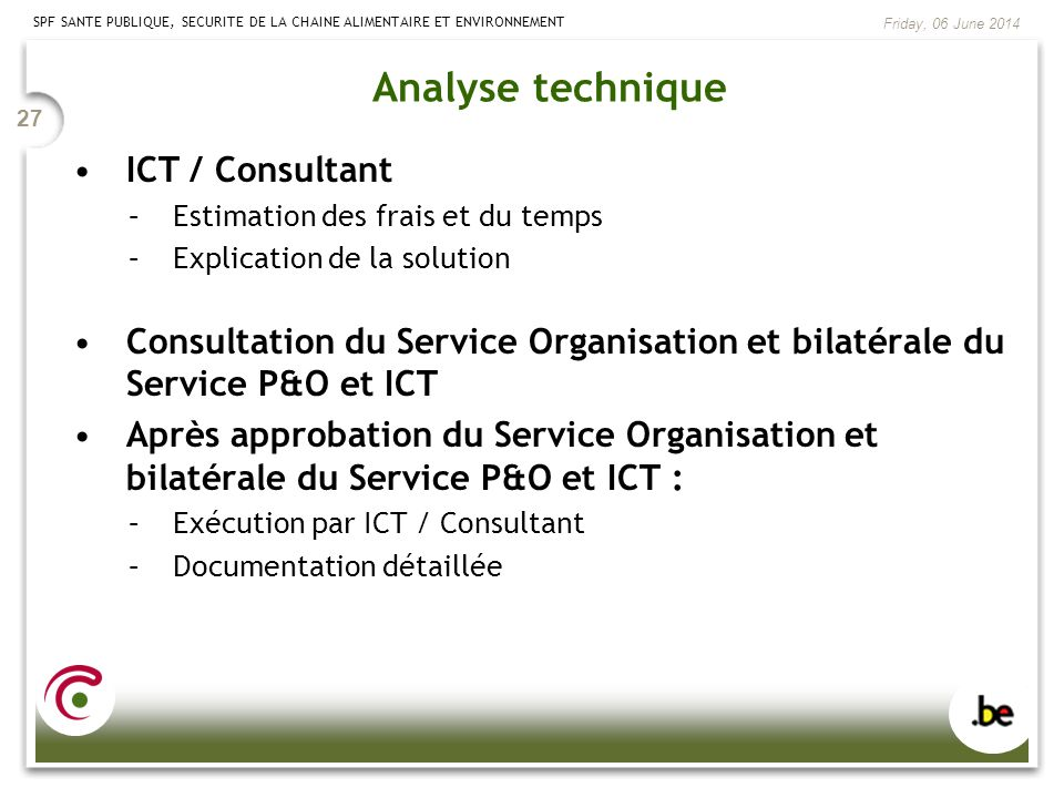 Analyse technique ICT / Consultant