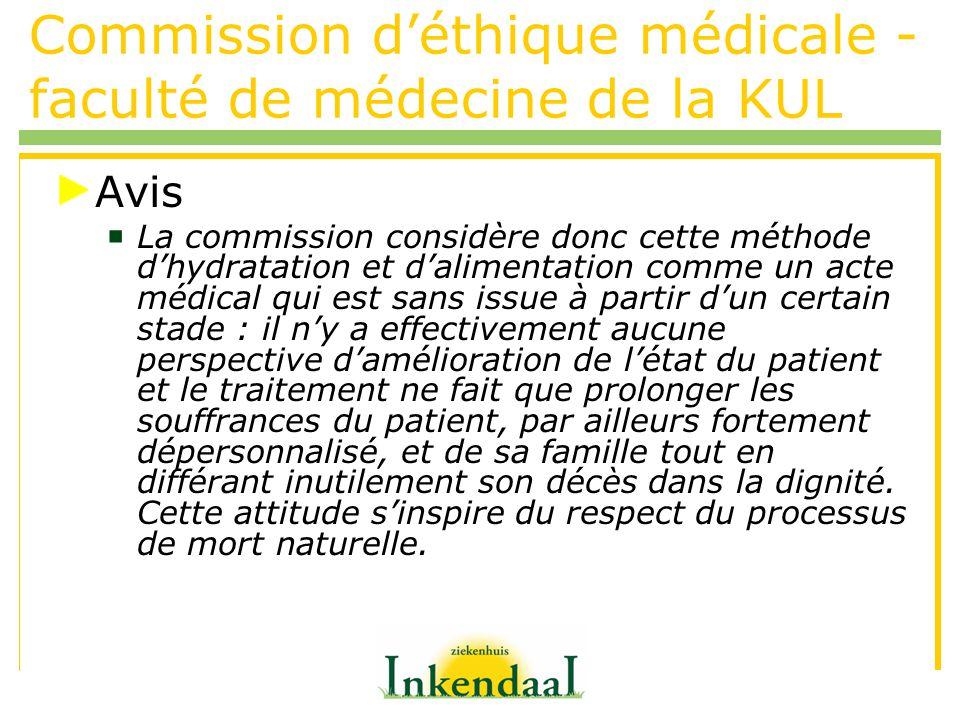 Commission d'éthique médicale - faculté de médecine de la KUL