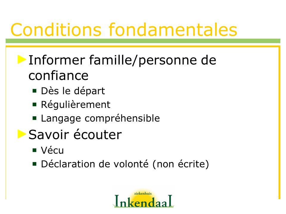 Conditions fondamentales
