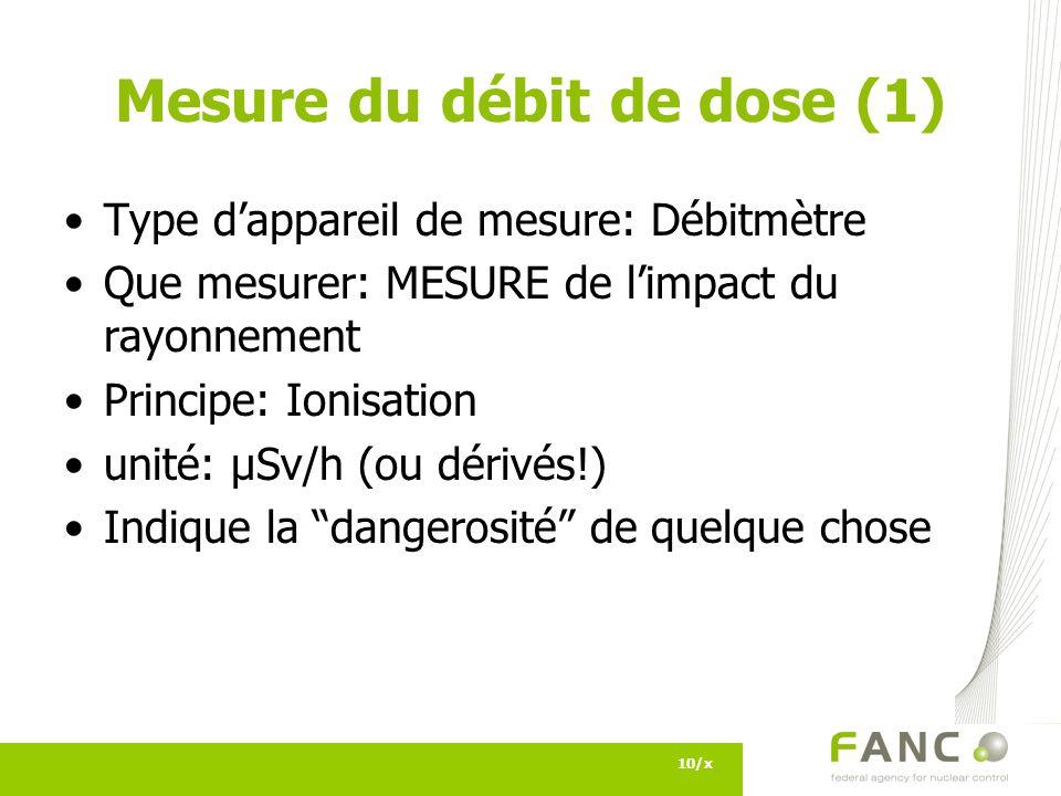 Mesure du débit de dose (1)