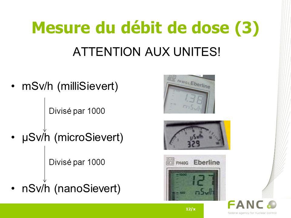 Mesure du débit de dose (3)