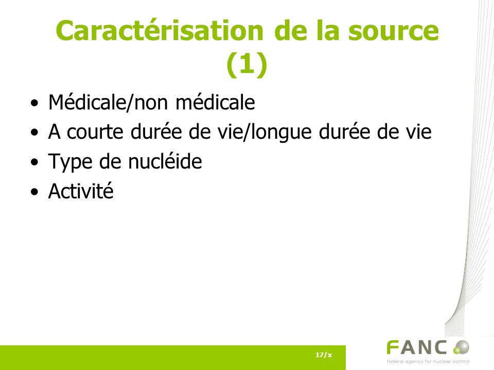 Caractérisation de la source (1)