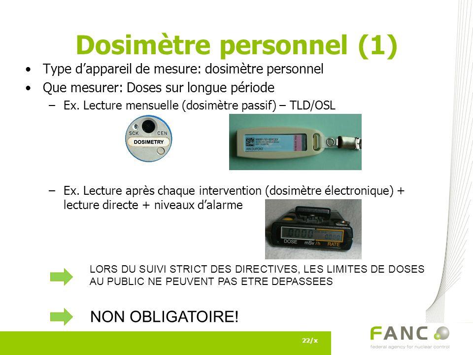 Dosimètre personnel (1)