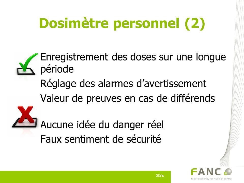 Dosimètre personnel (2)