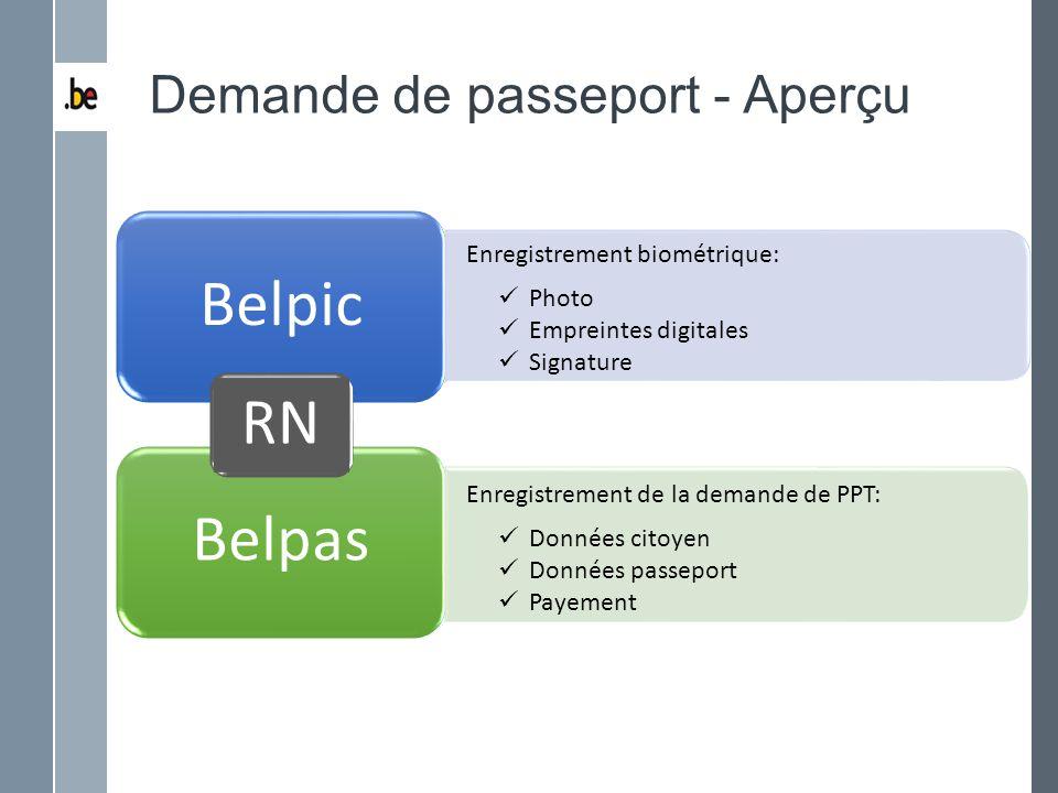 Demande de passeport - Aperçu