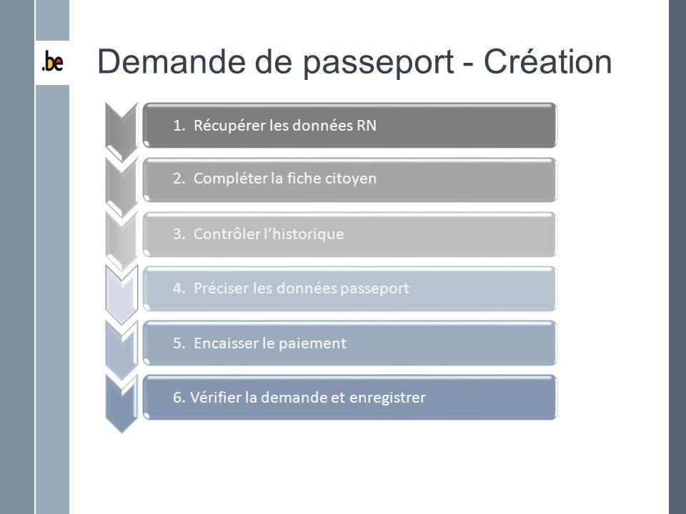 Demande de passeport - Création