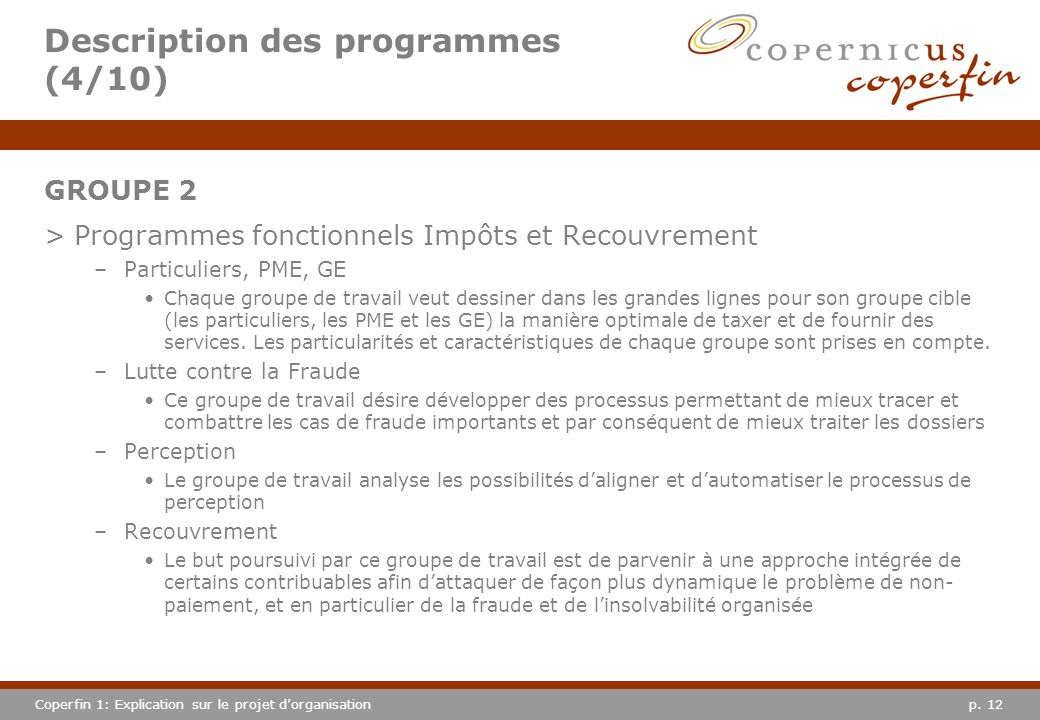 Description des programmes (4/10)