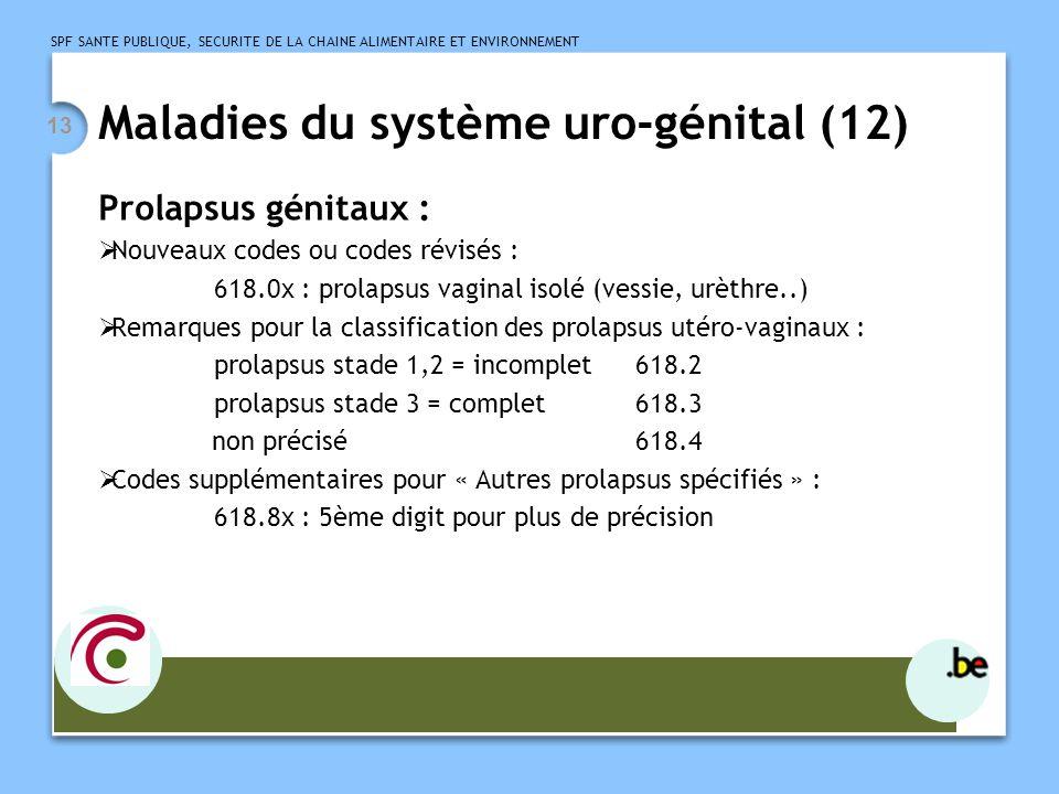 Maladies du système uro-génital (12)