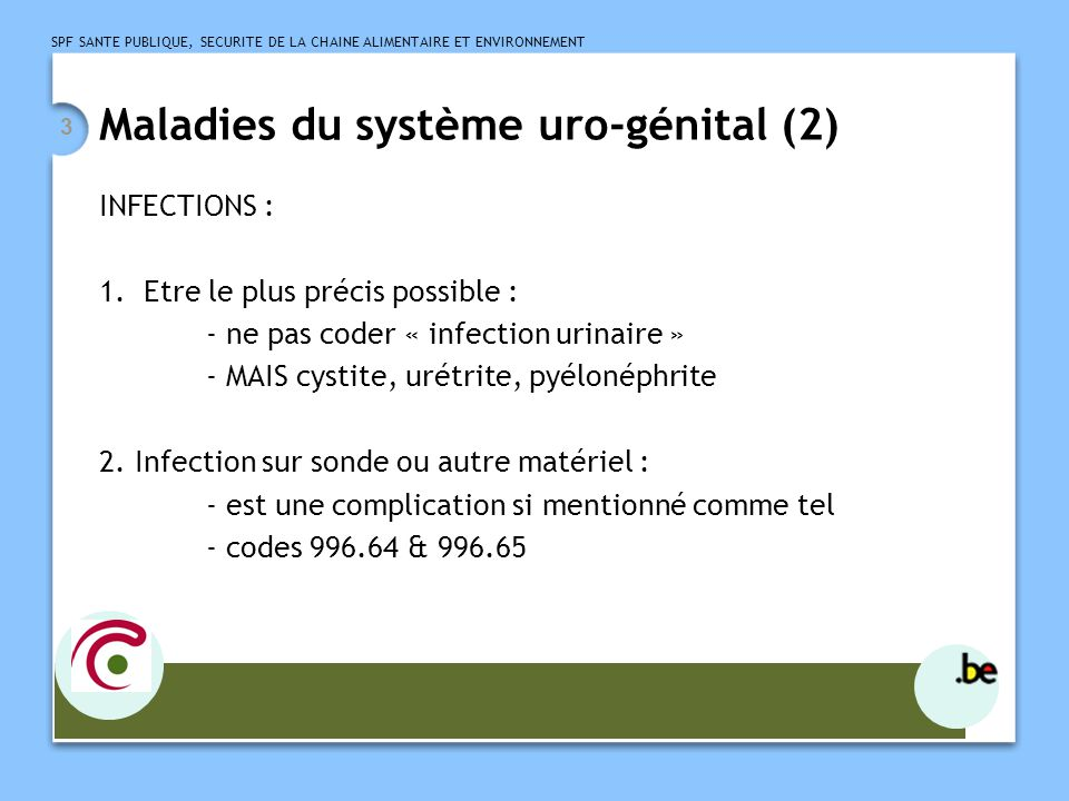 Maladies du système uro-génital (2)