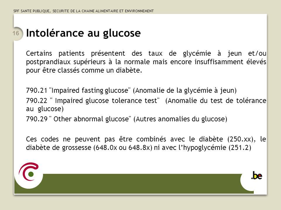 Intolérance au glucose