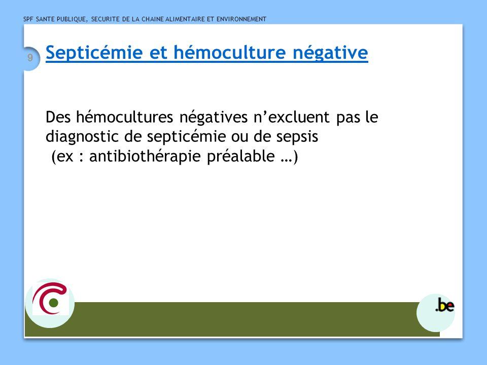 Septicémie et hémoculture négative