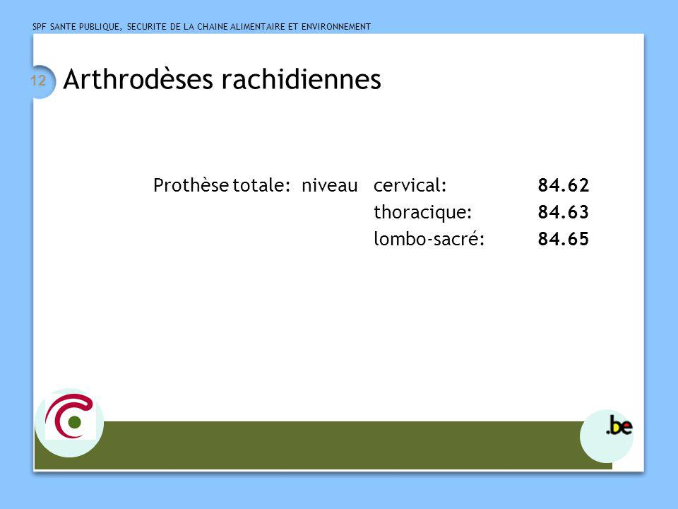 Arthrodèses rachidiennes
