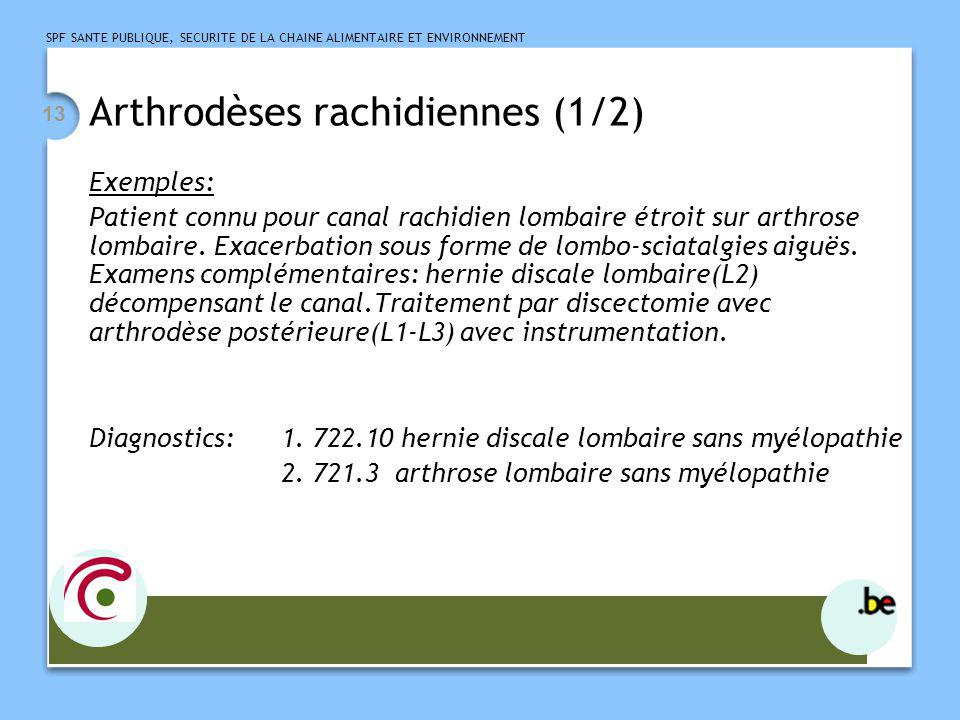 Arthrodèses rachidiennes (1/2)