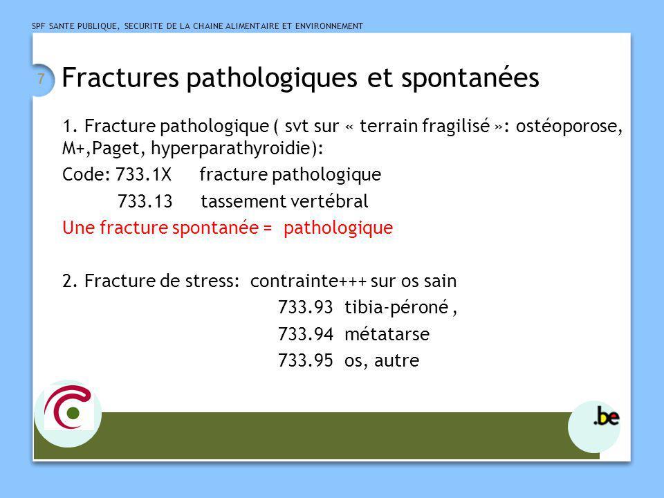 Fractures pathologiques et spontanées