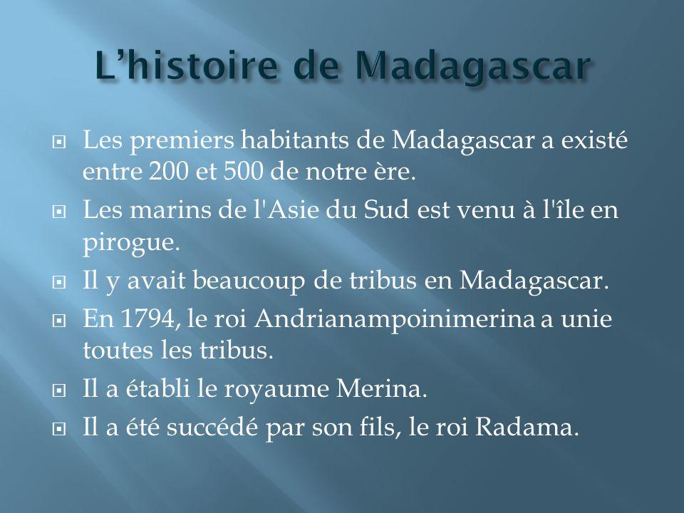 L'histoire de Madagascar