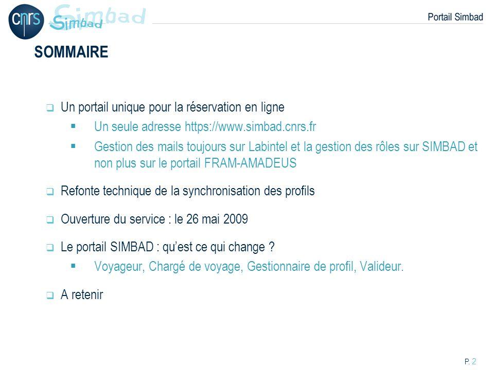 SOMMAIRE Un portail unique pour la réservation en ligne