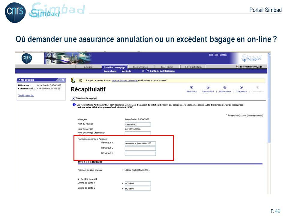 Où demander une assurance annulation ou un excédent bagage en on-line