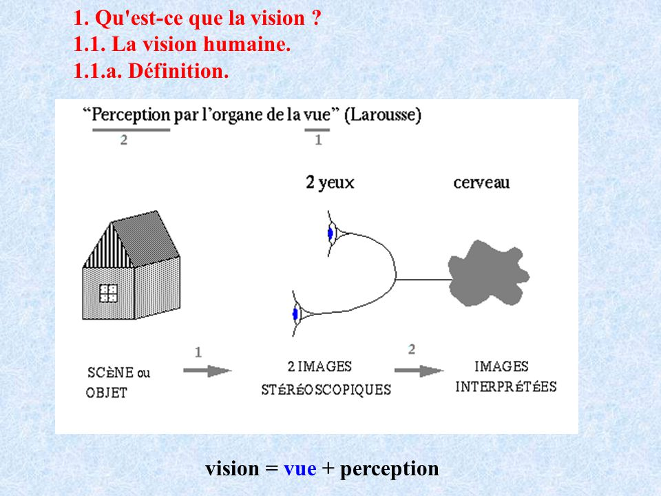 vision = vue + perception