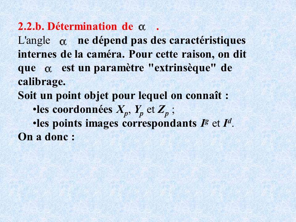 2.2.b. Détermination de .