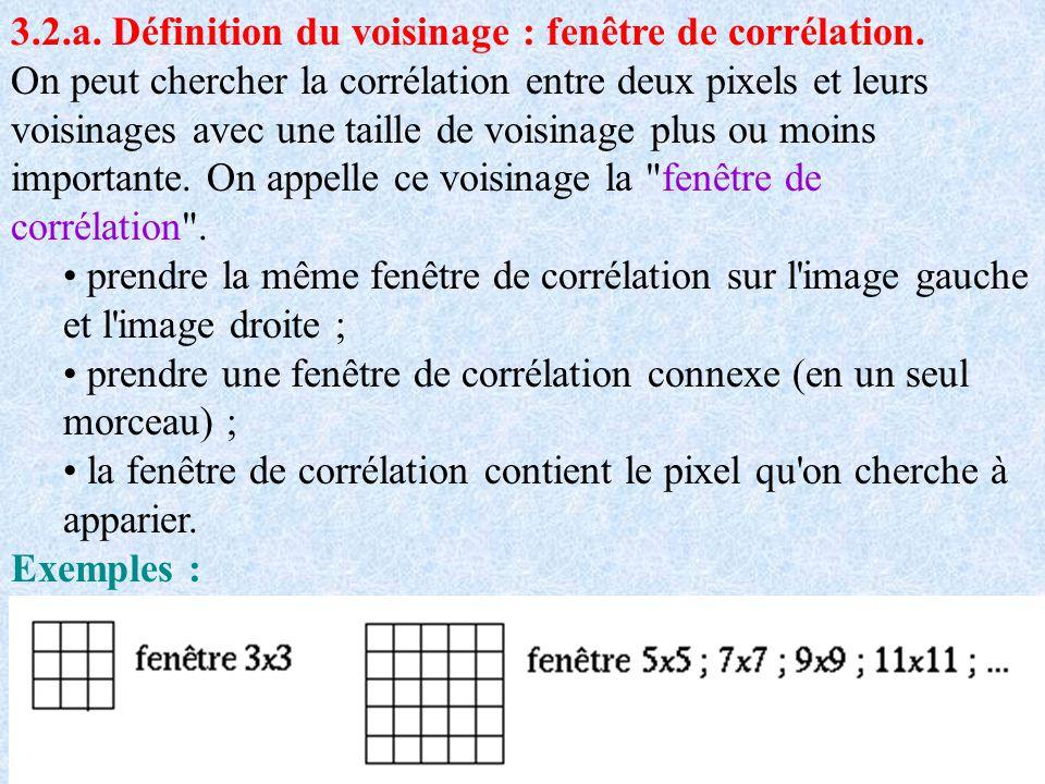 3.2.a. Définition du voisinage : fenêtre de corrélation.