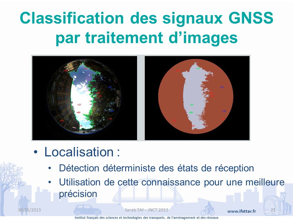Classification des signaux GNSS par traitement d'images