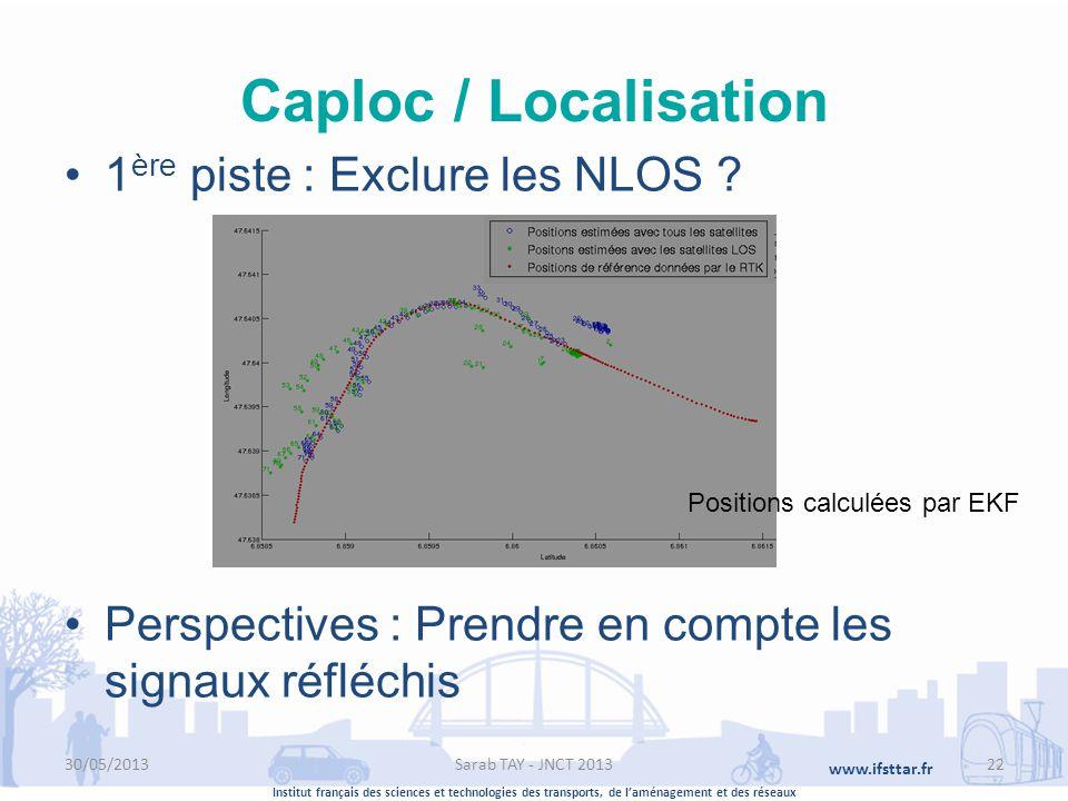 Caploc / Localisation 1ère piste : Exclure les NLOS