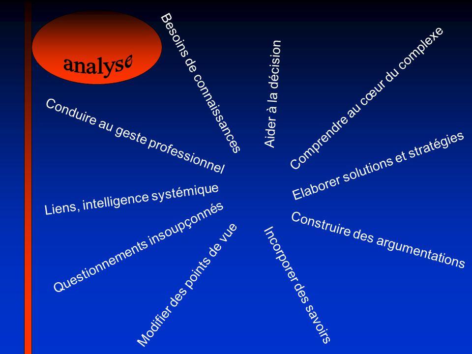 analyse Besoins de connaissances Comprendre au cœur du complexe