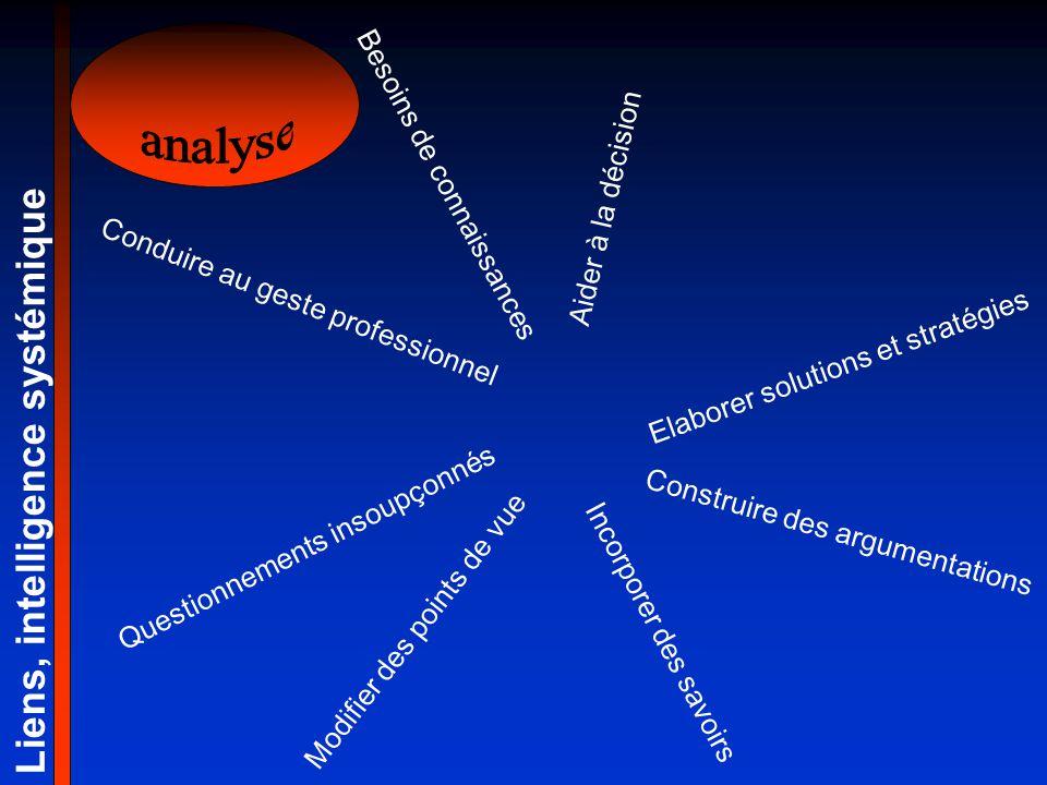 analyse Liens, intelligence systémique Besoins de connaissances