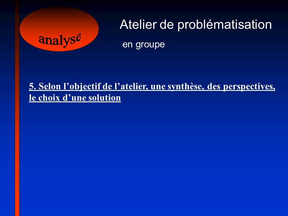 analyse Atelier de problématisation en groupe