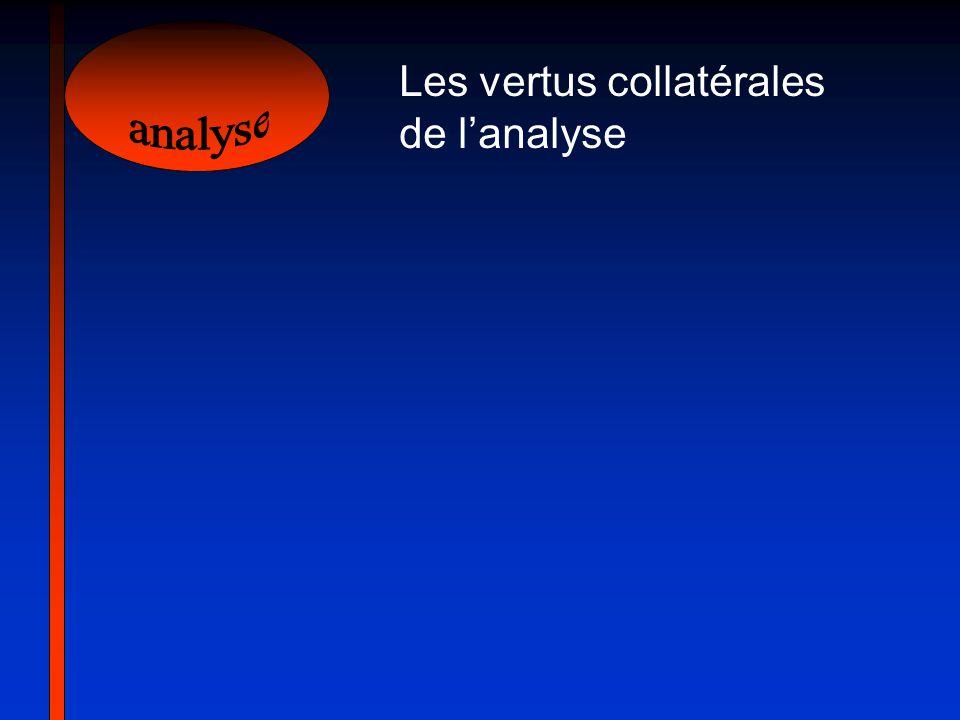 Les vertus collatérales de l'analyse