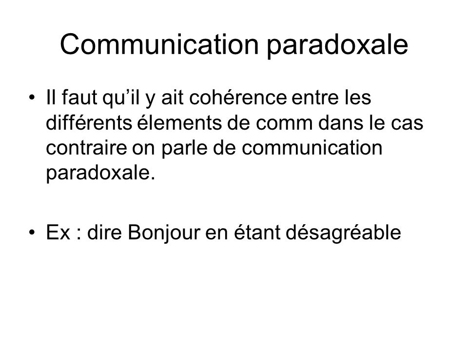 Communication paradoxale