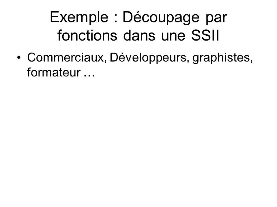 Exemple : Découpage par fonctions dans une SSII