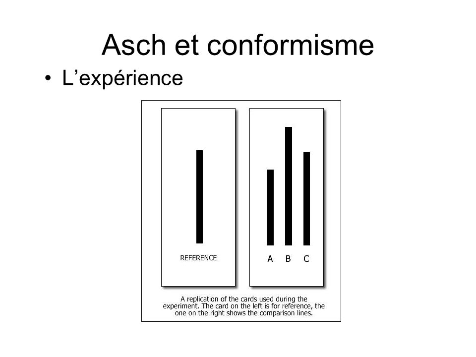 Asch et conformisme L'expérience