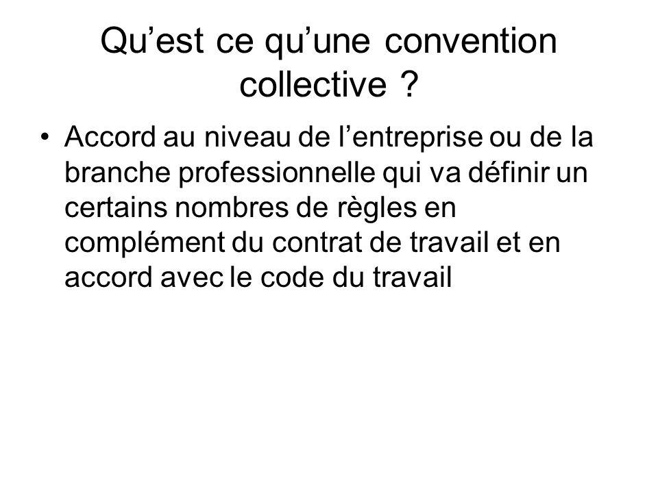 Qu'est ce qu'une convention collective