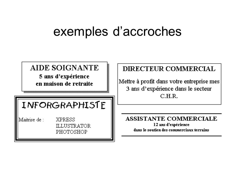 exemples d'accroches