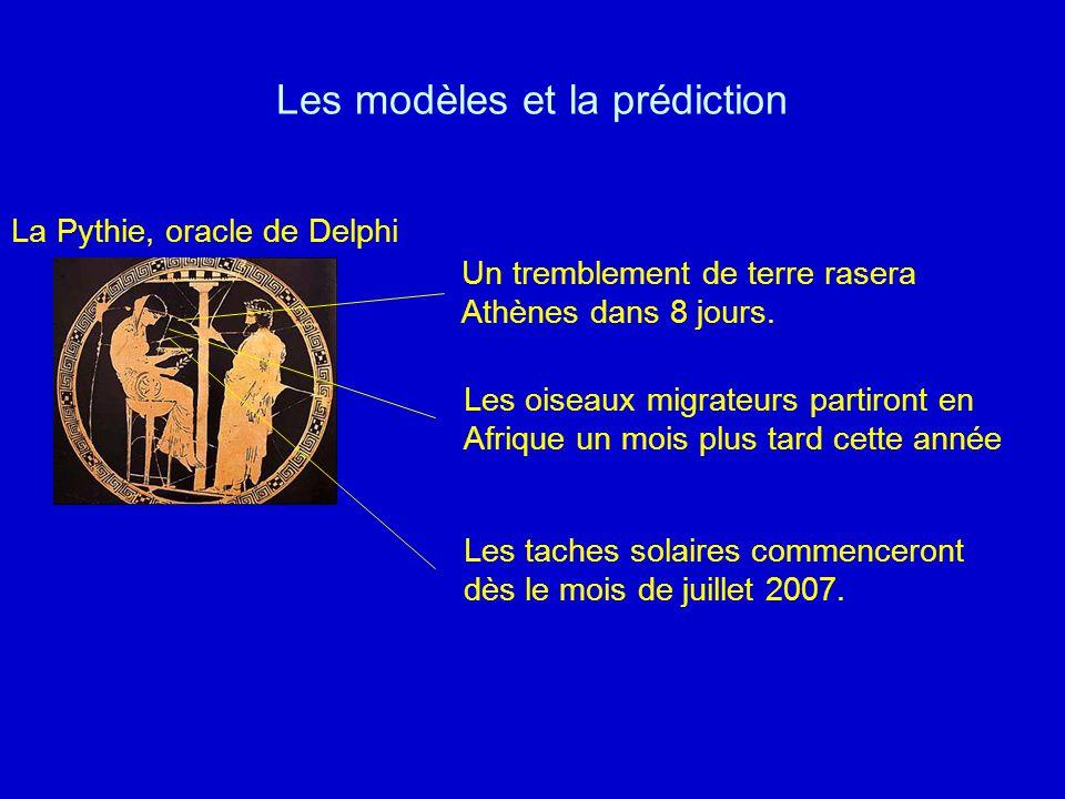 Les modèles et la prédiction