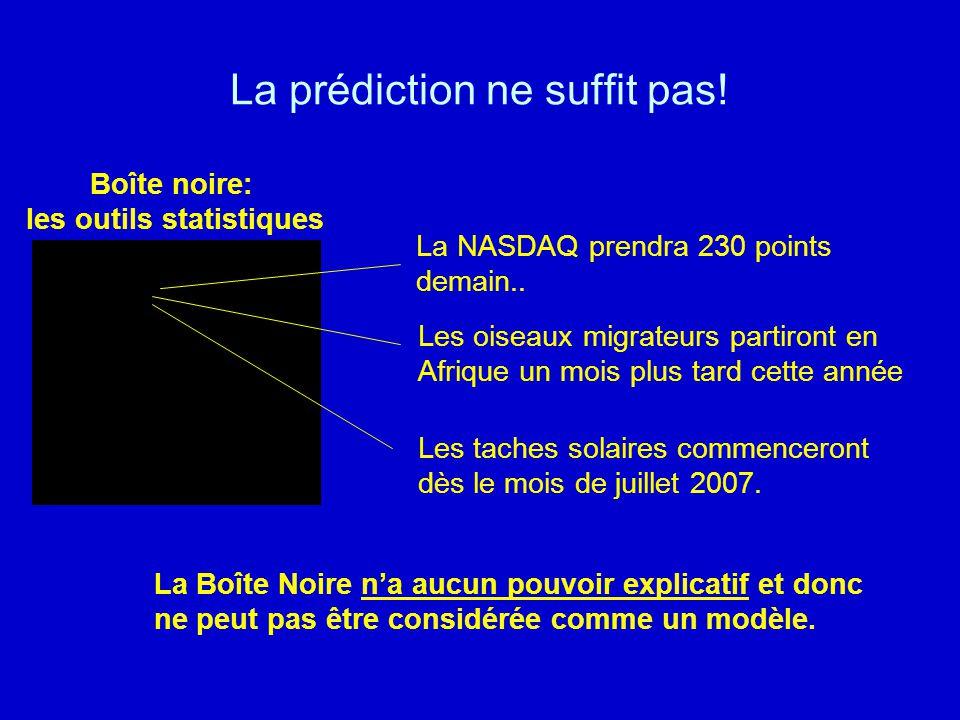 La prédiction ne suffit pas!